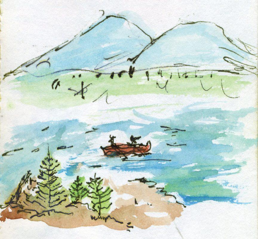 WIN15_Raquette_watercolor mountain lake