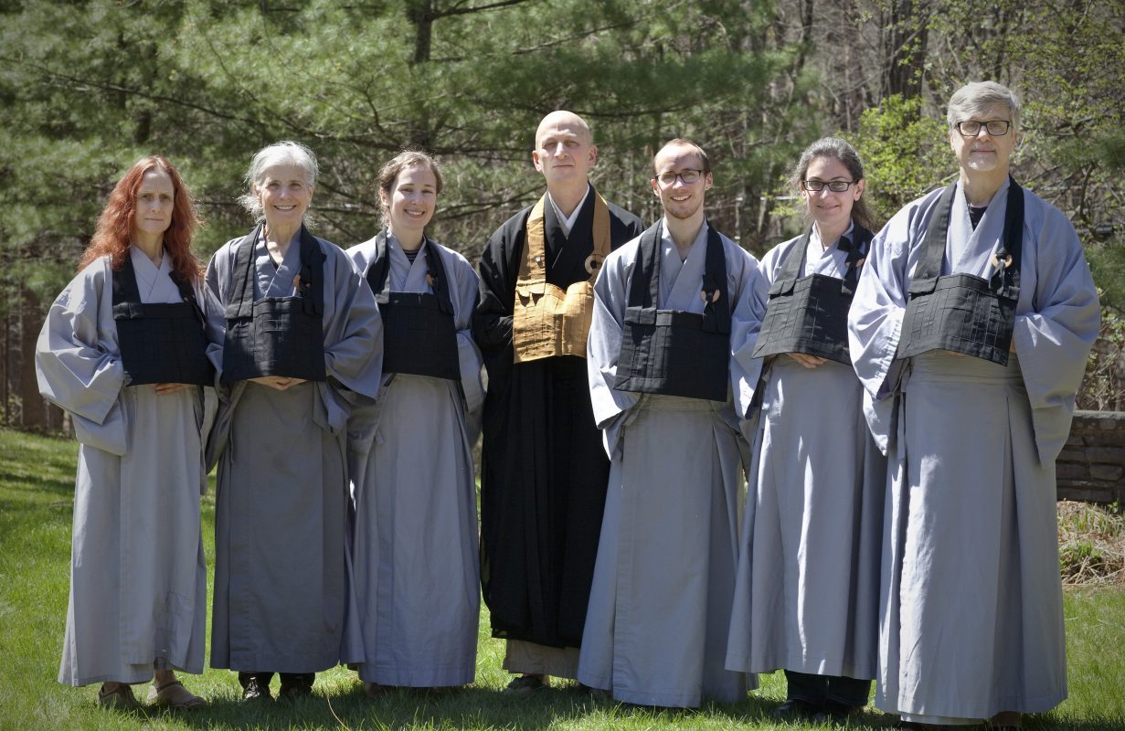 the Spring Ango jukai group with Shugen Sensei