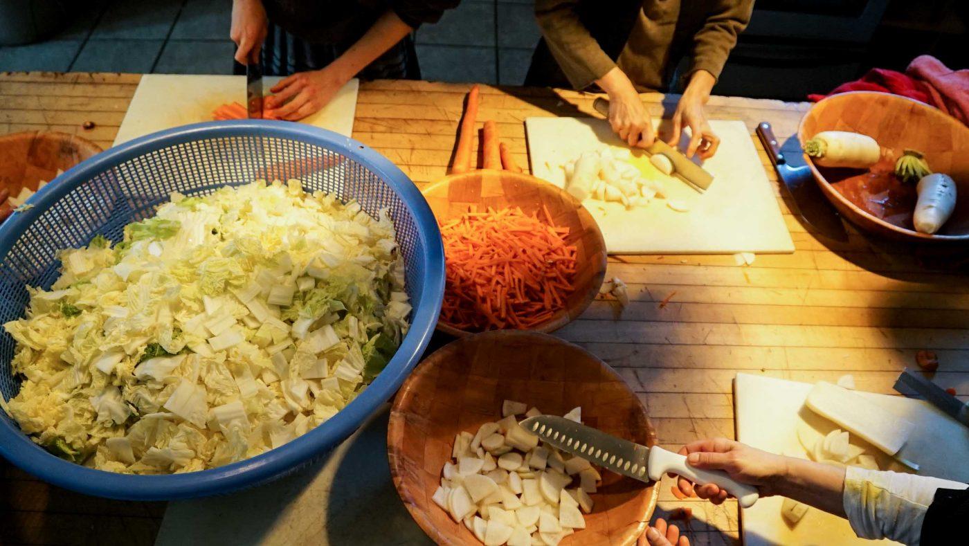 Chopping, chopping and more chopping.