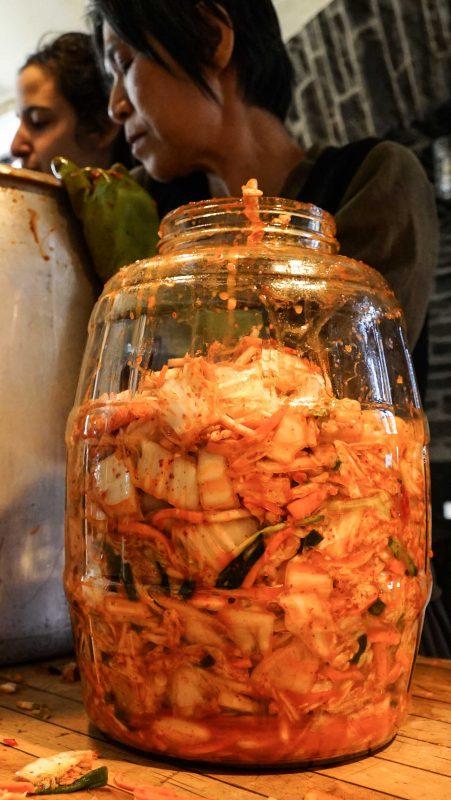 Each sterilized jar holds 2.5 gallons.