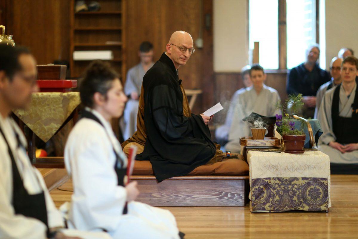 Shugen Sensei reads his poem for Meiju